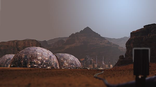 Governor of Martian Colonies announces an Orion outpost on Mars
