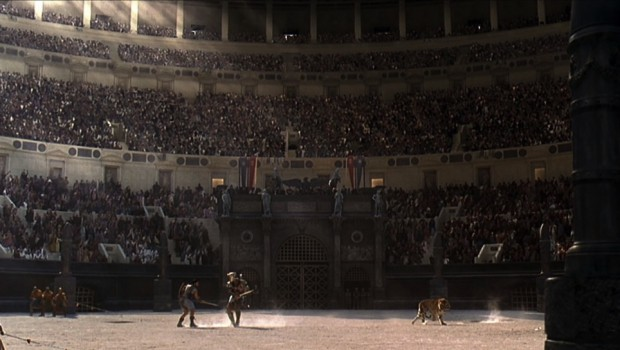 Empire TV broadcasts live gladiator tournament during Saturnalia amidst protests
